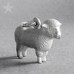 Sterling silver or gold sheep charm