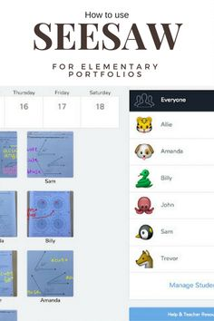 When you have shared iPads, Seesaw is a fantastic way to help each child have their own portfolio of digital work. Seesaw is simple authentic assessment. Teacher Blogs, Teacher Resources, Teaching Ideas, Classroom Resources, Seesaw App, Teaching Technology, Technology Integration, Educational Technology, Instructional Technology