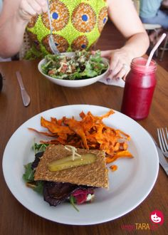 Vegetarian and visiting Sydney? Follow http://www.pinterest.com/sydneyyoga/healthy-eating-out-in-sydney-a-sydney-yoga-group-b/ to find amazing cafes. This is 'Sadhana raw cafe, Enmore' cc @vegeTARAian