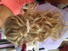 Prom hair. Melody? I have a clip that would look beautiful in your hair