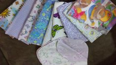 Lot of 10 Baby Burp Cloths by ohSEWcuddly on Etsy