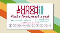 make your own punch-cards: a nice, simple way to stay motivated that could be applied to lots of different things