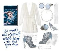 """""""Ice queen"""" by mediha-delic ❤ liked on Polyvore featuring Rebecca Minkoff, Carolee, Skagen, Stephen Dweck, BERRICLE and Sergio Rossi"""