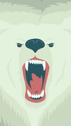 Download Fierce Polar Bear Winter iPhone 6 Plus HD Wallpaper