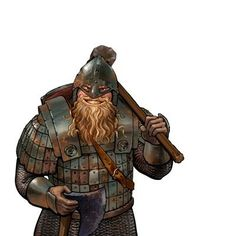 Burin the Lost, the dwarf companion from the Rise of Wesnoth campaign Fantasy Races, Fantasy Armor, High Fantasy, Medieval Fantasy, Fantasy Character Design, Character Concept, Character Inspiration, Character Art, The Elder Scrolls