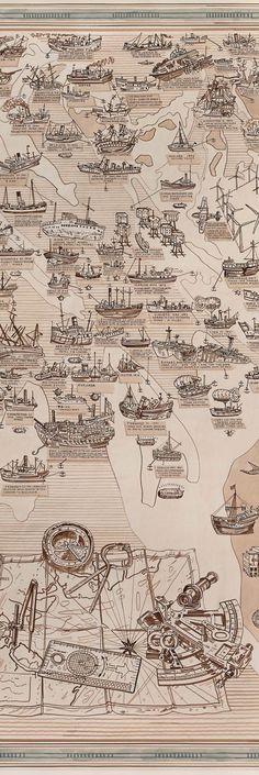 Adam Dant's Map Of Thames Shipwrecks
