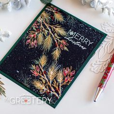 Winter Sketches Stamp Set – The Greetery Christmas Sentiments, Christmas Tag, Handmade Christmas, Christmas Greenery, Christmas Greetings, Christmas Ideas, Winter Cards, Holiday Cards, Heather Nichols