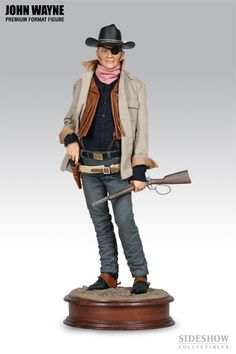 This Sideshow Collectable John Wayne statue was a gift from my sweetheart.
