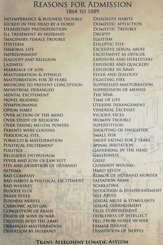 Reasons you could be sent to an asylum in Victorian England