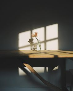This image captures the softness created by the gentle light and harmonious colours. The silhouette of the window frame from the light gives the image a lithe and ambient aesthetic, at the same time the shadow of the flower and vase-- (to be continued) Light And Shadow Photography, Art Photography, Photography Flowers, Vintage Photography, Creative Photography, Newborn Photography, Landscape Photography, Wedding Photography, Aesthetic Photo