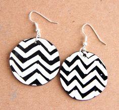 DIY Chevron earrings, from AlisaBurke's blog.