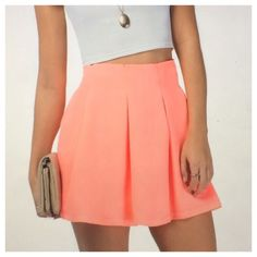 Pretty Peach Coral Pink Mini Skirt Chic NWT NWT. I have a bundle discount on my closet so be sure to check out my other listings. Depending on your screens contrast color may be lighter or darker than pictured. I normally ship within a day. Please ask me any questions. Happy poshing!  -Price is final unless bundled, no offers accepted. Tobi Skirts Mini