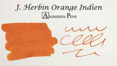 J. Herbin Orange Indien Ink (30ml Bottle) Fountain Pen Ink