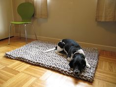 Ravelry: Giant knit rope rug pattern by Cara Corey