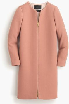 J.crew Doublecloth Collarless Coat in Brown