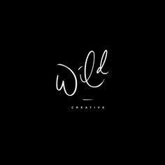 Hand Lettered Variations | Wild Creative | Mel Volkman | Hand Lettering | Brush Lettering | Logo Variations | Custom Logo Design | Branding | Black and White | Modern Lettering Design