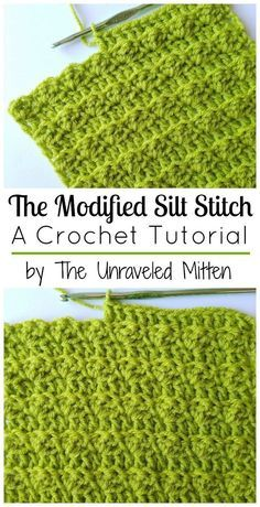 The Modified Silt Stitch | The Unraveled Mitten | Crochet | Crochet Stitches | Textured Crochet Stitches