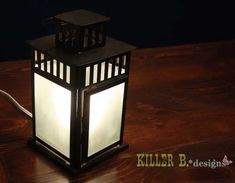 Ikea Lamp Hack.  We have a few of these left over from the wedding - what a great way to spruce them up!