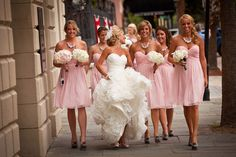 This is exactly what I want! Love her dress and the bridesmaids