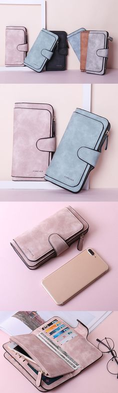 Four Fold Wallet Purse: Card&Phone