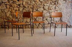 Stühle Küche Esszimmer Holz Stahlrohr 2 Hand Used Vintage Industrie Design Ikonen retro gebraucht (2) 2