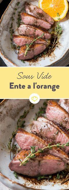 Zarter hast du Entenbrust noch nicht erlebt. Und Sous Vide sei Dank ist diese Ente à l'orange auch noch ziemlich einfach zuzubereiten.
