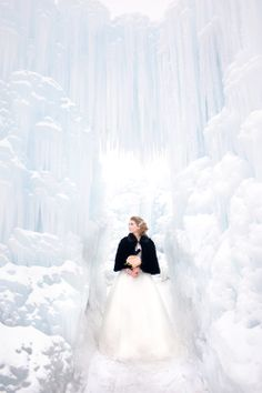 Composite rose at Midway Ice Castles