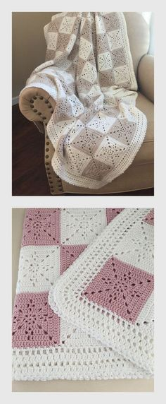 Beautiful Crochet Baby Blanket by Deborah O'Leary Patterns is not a free pattern - you can buy it on link below or use a similar square -  https://www.etsy.com/listing/481382549/crochet-blanket-pattern-arielles-square?ref=shop_home_feat_4&pp=1&utm_content=buffer09f85&utm_medium=social&utm_source=pinterest.com&utm_campaign=buffer