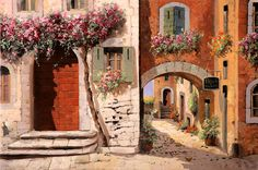 Doppia Casa Painting by Guido Borelli