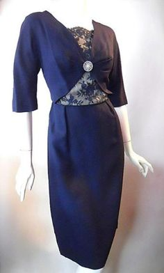 50s dress vintage clothing - love the shape and the lace inserts