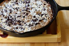 Healthy good chocolate chip pan cookie
