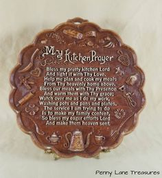 My Kitchen Prayer ~ Wall Plaque ~ Resin ~ Faux Wood ~ Mid Century ~ Kitchen Decor ~ Cottage Chic ~ Vintage Kitchen ~ Penny Lane Treasures by PennyLaneTreasures on Etsy