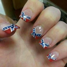Rebel flag French tips :)