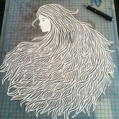 Seriously stunning cut paper artwork by @Lorraine Siew Nam at #BushwickOpenStudios #KimberlyLewisHome