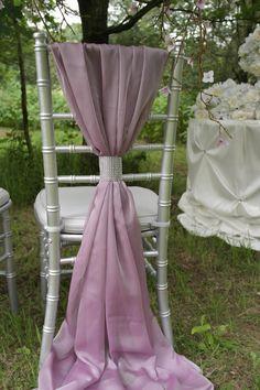 Rose Silky Chiffon chair sash wedding by DelaDesignStudio, £9.99