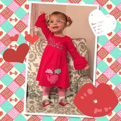 My beautiful daughter in her Valentine outfit!
