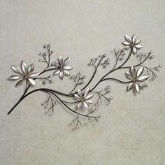 Pearl Array Floral Metal Wall Art