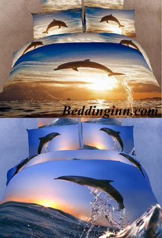 #dolphin #beddingset  Buy link-->http://goo.gl/N6BTGc Buy link-->http://goo.gl/KyHUlF Live a better life,start with @beddinginn http://www.beddinginn.com/product/New-Arrival-High-Quality-100-Cotton-Reactive-Printing-Dolphins-10694705.html