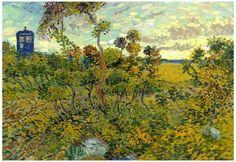 Vincent Van Gogh Tardis at Montmajour Poster - bij AllPosters.be