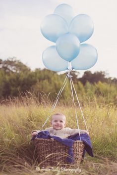 Smile Baby – Newborn, baby & Child Photography » baby boy with balloons, 6 month baby, lifestyle photography