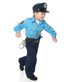 Police Officer costume comes with 2 pieces a one piece uniform and a police hat. Description from familylifeinlv.com. I searched for this on bing.com/ ...  sc 1 st  Pinterest & Boys Police Officer Deluxe Toddler Costume - Blue - Toddler (4T ...