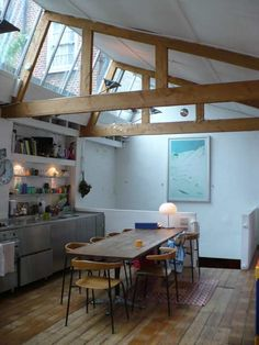 A London live/work in a converted model-making warehouse in the East End.