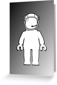 """""""Banksy Style Astronaut Minifig by Customize My Minifig"""" Greeting Cards & Postcards by ChilleeW 