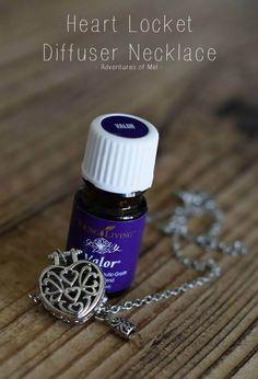 DIY Heart Locket Diffuser Necklace