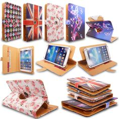 360 Rotating Stand Wallet Leather Case Cover For Various 8  9  10  Tablet PC