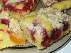 Kolač s ovocím Šup-šup Healthy Dessert Recipes, Baking Recipes, Cake Recipes, Czech Desserts, Kolache Recipe, Coconut Pound Cakes, Czech Recipes, Sweet Cakes, Desert Recipes
