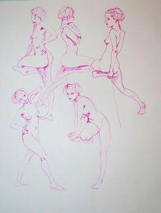 Les planches de dessins de Kirk Shinmoto #illustration #girl #beauty