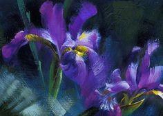 Irises.-Painting-by-Jay-J.-Johnson.jpeg (500×359)