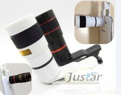 Cell Phone Lens Universal 8X Telescope Camera Telephoto Lenses for iPhone 4 4S .... - #camera #Cell #iPhone #lens #Lenses #Phone #Telephoto #Telescope #Universal