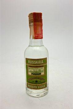 Russkaya Mini Liquor Bottle  (Pycckar Russian Vodka)